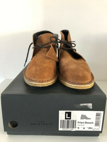 CLARKS Colo Brown Suede Friya Desert Boots Size 6D Eur 39.5 New In Box