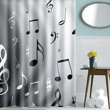 Home Bath Decor Music Notes Waterproof Polyester Fabric Shower Curtain 59