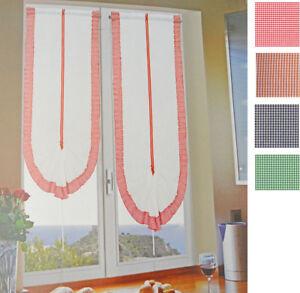 Coppia tendine regolabili balcone finestra portafinestre - Tendine vetro finestra ...