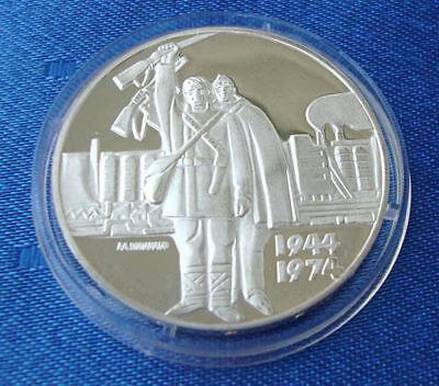 Proof MINT Silver Ag BULGARIA 5 levs 1974 Alexander Stamboliiski