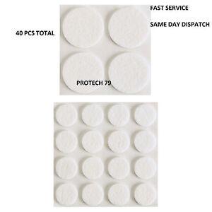 Image Is Loading 40PCS FELT FLOOR PROTECTORS Anti Skid Furniture Pads
