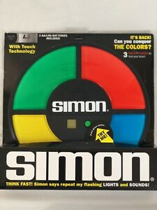 8+Year Simon Game Electronic Hasbro Vintage Color Memory Handheld Gameplay Sound