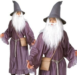 Adult Deluxe GANDALF Fancy Dress Costume Lord of the Rings Halloween ... f184eddf2a7