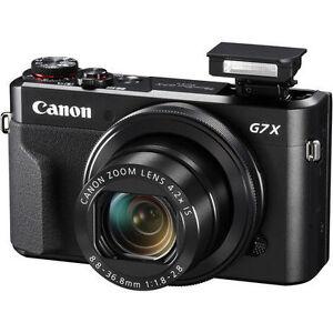佳能 g7x Mark II g7 X II PowerShot 20.1mp 數碼相機 (黑色)