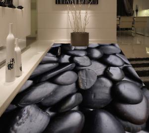 3D Negro Piso Parojo de papel pintado Mural Piedras 532 impresión 5D AJ Wallpaper Reino Unido Limón