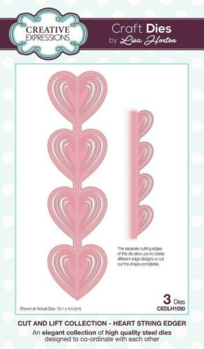 Creative Expressions Cut /& Lift Heart String Edger CEDLH1050 Lisa Horton