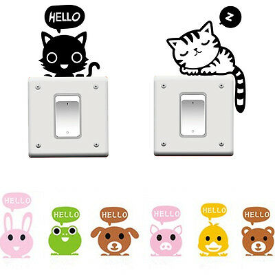 DIY Removable Switch Art Vinyl Quote Wall Stickers Decal Mural Home Kids Decor