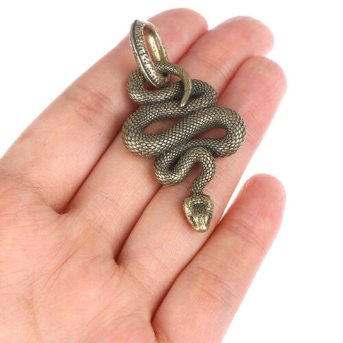 1Pc Brass Snake Key Ring Boa Key Chain Outdoor Small Accessories Car Hang od