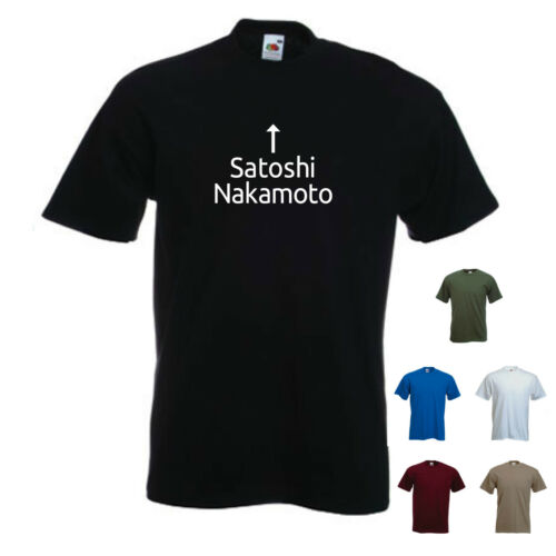 /'Satoshi Nakamoto/' Mining mens T-shirt Tee Bitcoin P2P Digital Currency