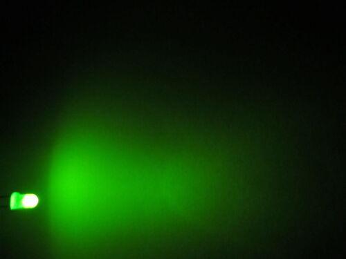 50x 3mm LED Tondo diffuso molto luminoso diodo resistore 3mm