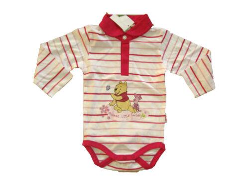 80 Poloshirt NEU Disney Winnie Pooh Body Pullover Langarmshirt Mädchen Baby Gr