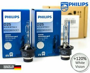 X2-D2S-Xenon-PHILIPS-White-Vision-Gen2-Car-Headlight-Bulbs-120-5000K-85122WHV2
