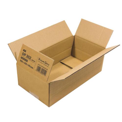 50 x Faltkarton 300x150x90 mm OP 302 Versandkartons Verpackungen Paket Kartons