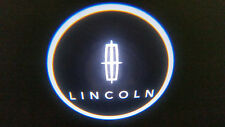 2PC WHITE LINCOLN 5W LED EMBLEM DOOR PROJECTOR GHOST SHADOW PUDDLE LOGO LIGHT