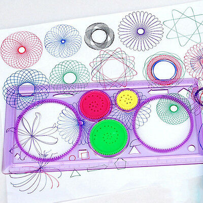 4 Pcs//Set Spirograph Geometric Ruler Drafting Tools Students Drawing Stationery