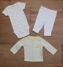 Carter's Baby Girl 3 Piece Layette Set ~ Yellow & White ~ Ducks ~ Newborn ~