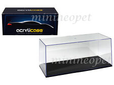 ACRYLICASE 14003 CLEAR DISPLAY SHOW CASE FOR 1/18 DIECAST MODEL CAR BLACK BASE