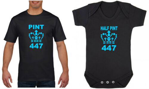 Half Pint Baby Grow Mens T-Shirt Father/'s Day Present Gift Kids Child Pint