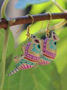 Ana Xuana Handmade Oaxaca Mexico Folk Art Details about  /Alebrije Angel Dog Earrings Detailed