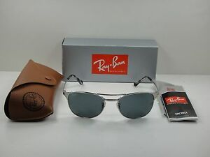 5e344a67db8 RAY-BAN SIGNET SUNGLASSES RB3429M 003 R5 SILVER BLUE GREY CLASSIC ...