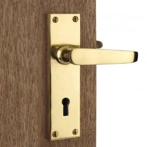 Multipack Offer 3 Pairs Victorian Solid Brass Lever Lock Door Handles