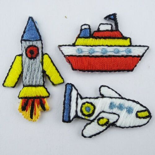 Lovely Boy Theme Motif Patch Repair Iron On France Vehicle Boat Sport Costume