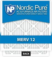 Nordic Pure 20x25x1 Ac Furnace Air Filters Merv 12, Box Of 6, New, Free Shipping