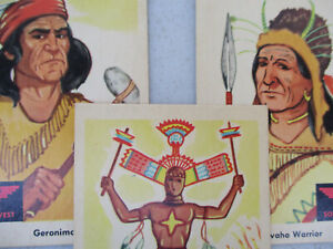 Fleer Indian Trading Card Lot Native American Vintage Collectible 1959