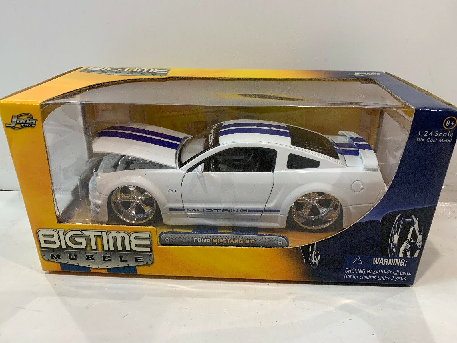 Neuf Scellé Blanc RARE Jada toys Dub city grave Muscle FORD MUSTANG GT 1 24