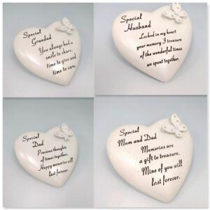 Sentimental-Heart-Shape-Memorial-Stone-Ornament-Grave-Plaque-Mum-Dad-Grandad-Nan