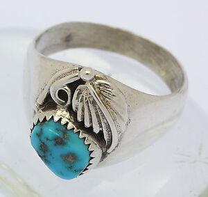 Ring-in-aus-925er-Sterlingsilber-Silber-mit-Tuerkis-Silberring-Tuerkisring