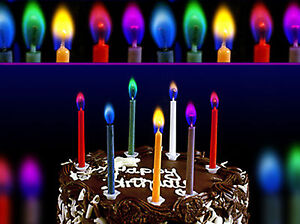 Image Is Loading 24x Angel Flame Magic Multi Coloured Birthday Cake