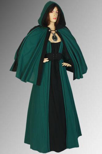 Renaissance Cloak Costume Cape Handmade 100/% Natural Cotton