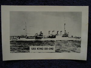 Vintage-RPPC-USS-KING-Destroyer-US-Navy-DD242-USN-Real-Photo-Postcard-LL-Cook