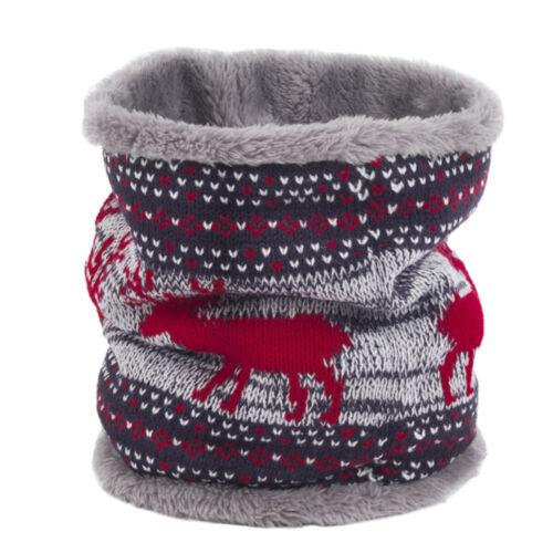 Women Warm Knit Thicken Neck Circle Wrap Cowl Loop Snood Scarf Shawl Christmas