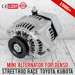 MINI-ALTERNATOR-Fits-DENSO-STREET-ROD-RACE-1-WIRE-Small-One-Wire-NEW-70-Amp