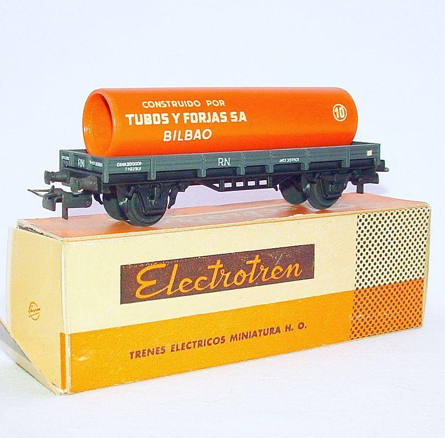 Electredren Spain HO 1 87 Renfe RN BILBAO PIPE TRANSPORT VAN WAGON MIB`65 RARE