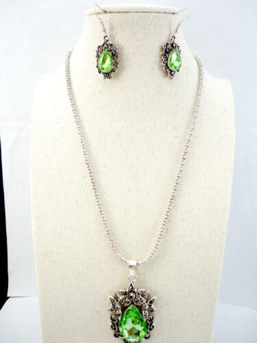 Retro Silver Alloy Jewelry Set Pendant Earring Necklace Chain Free Shipping J106