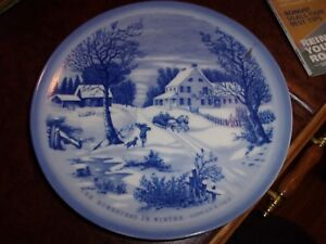 Image is loading Currier-And-Ives-034-The-Homestead-In-Winter- & Currier And Ives