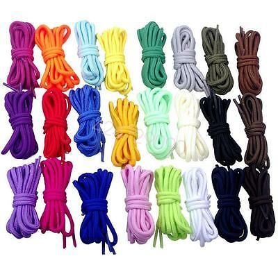 """Shoe Laces Round Coloured Trainer Boot Shoes Short Long New Shoelace 150cm/59"""" by Unbranded"""
