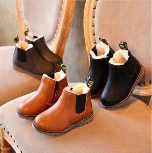 Neu Kinderschuhe Kinder Stiefel Boots für Jungen und Mädchen Herbst/Winter Warm