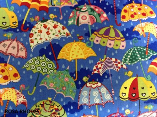 """44/"""" x 33/"""" IT/'S RAINING 88740 IT/'S POURING NUTEX PATCHWORK FABRIC"""