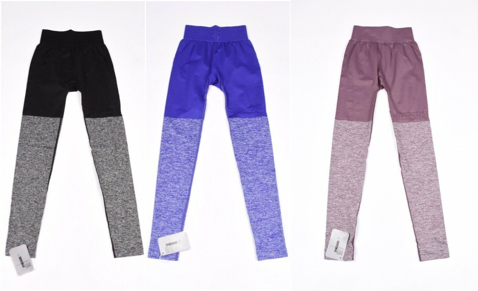 Gymshark Zwei Farbig Nahtlos Fitness Crossfit Damen Leggings GRÖSSE XS, S, Viele
