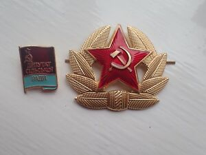 Genuine-USSR-CCCP-Soviet-Russian-Communist-Party-Label-Pin-Badge-amp-Army-Hat-Pin