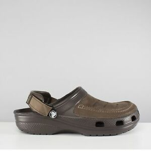 14939d606bf1 Image is loading Crocs-YUKON-VISTA-Mens-Leather-Touch-Fasten-Summer-