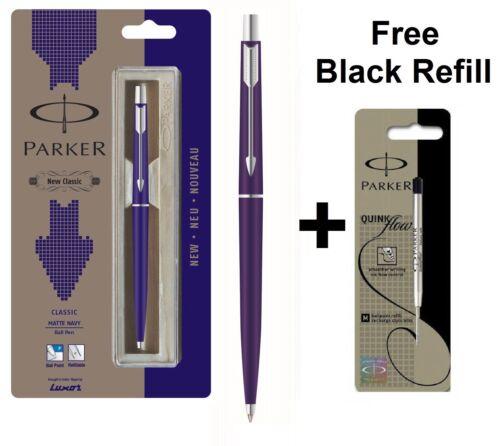 Free Black Refill GENUINE PARKER CLASSIC MATT MATTE NAVY BLUE BALL POINT PEN CT