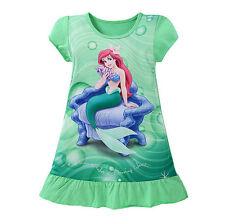 3-10Y Cartoon Baby Girls Mermaid Snow White Sofia Dress Kids Summer Party Dress