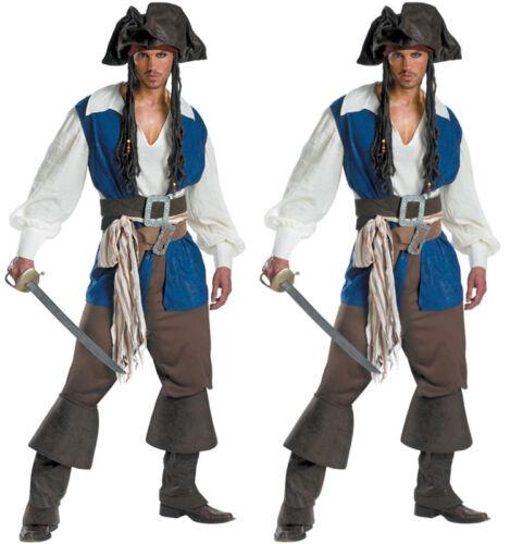 El capitán Jack Sparrow Pirata Disfraz De Piratas Del Caribe Traje De Baile de graduación