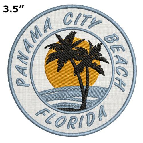Panama City Beach Florida Embroidered Patch Iron Sew-On Motif Souvenir Applique