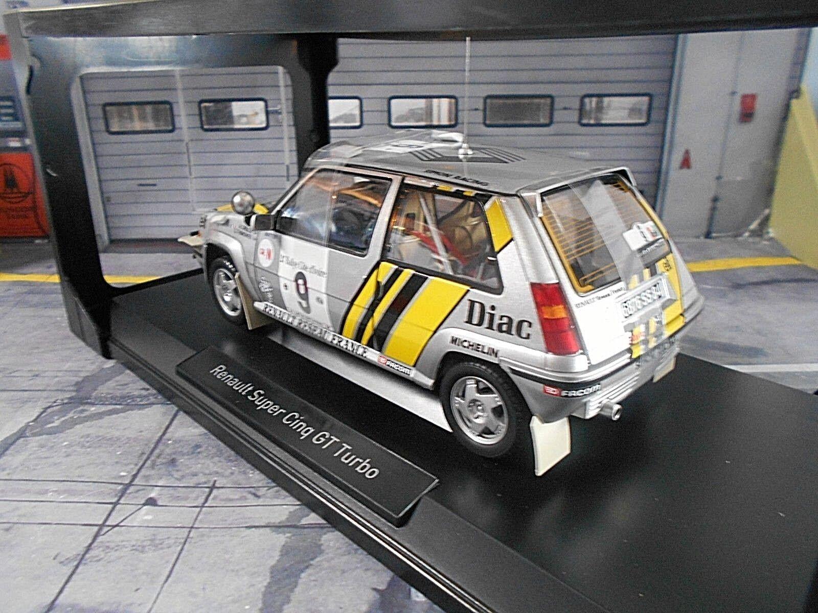 RENAULT 5 5 5 Turbo GT Rallye Bandama Ivoire 1989 Oreille Diac elf Norev 1 18 d62c27